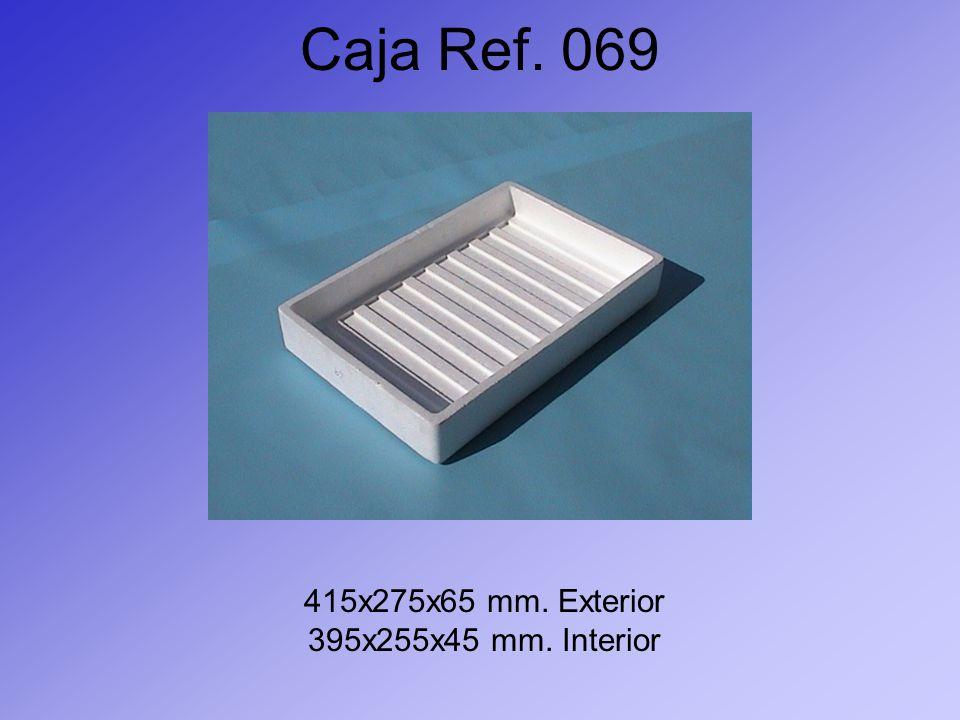 Caja Ref. 069 415x275x65 mm. Exterior 395x255x45 mm. Interior