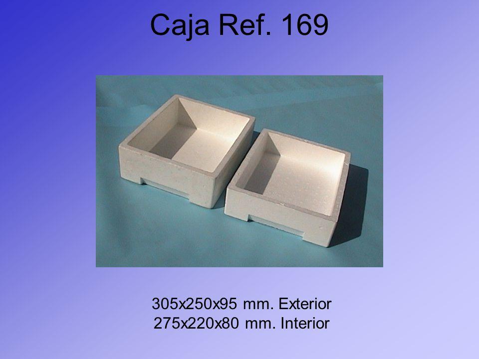 Caja Ref. 169 305x250x95 mm. Exterior 275x220x80 mm. Interior