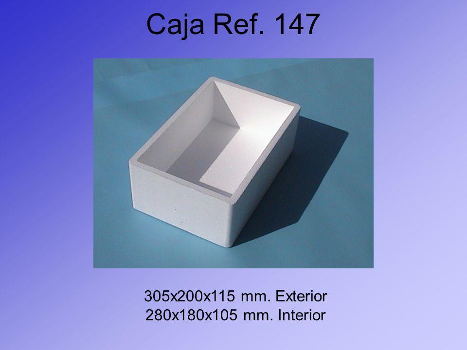 Caja Ref. 147 305x200x115 mm. Exterior 280x180x105 mm. Interior