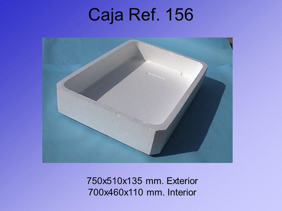 Caja Ref. 156 750x510x135 mm. Exterior 700x460x110 mm. Interior