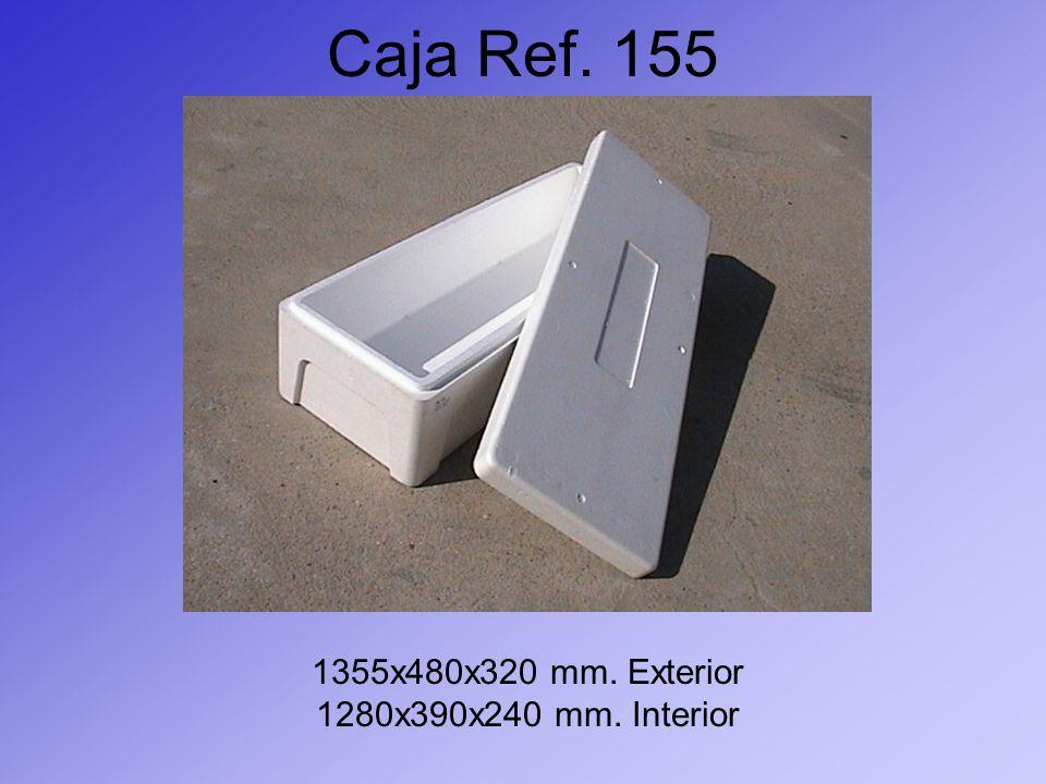 Caja Ref. 155 1355x480x320 mm. Exterior 1280x390x240 mm. Interior