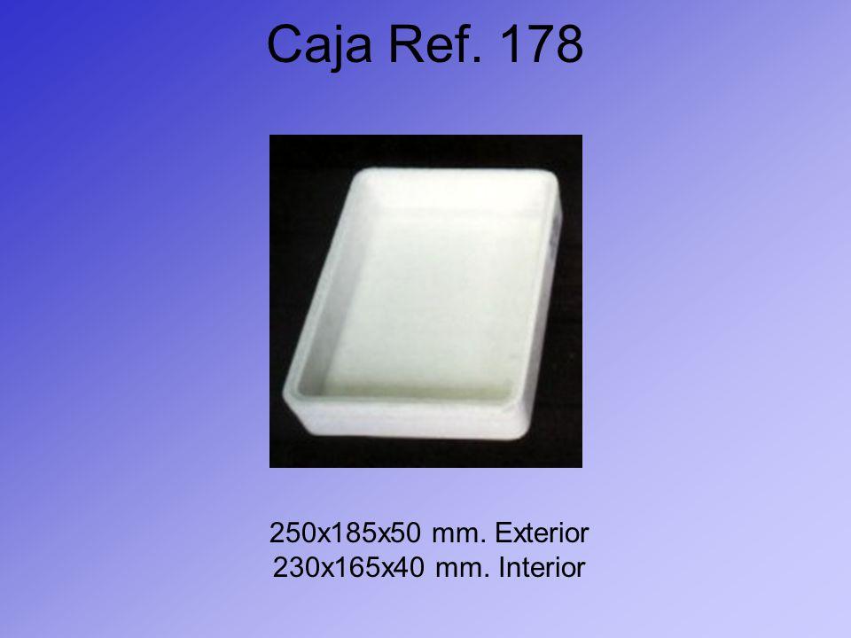 Caja Ref. 178 250x185x50 mm. Exterior 230x165x40 mm. Interior