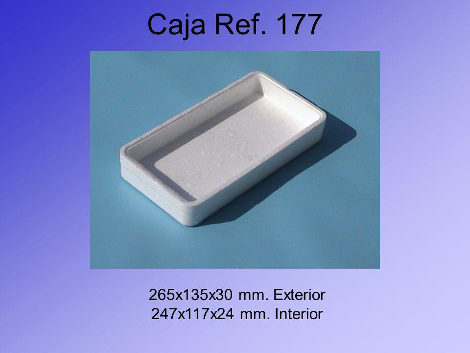 Caja Ref. 177 265x135x30 mm. Exterior 247x117x24 mm. Interior