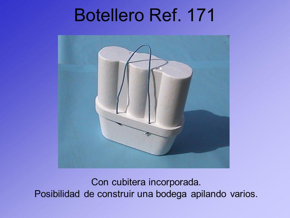 Botellero Ref. 171 Con cubitera incorporada.
