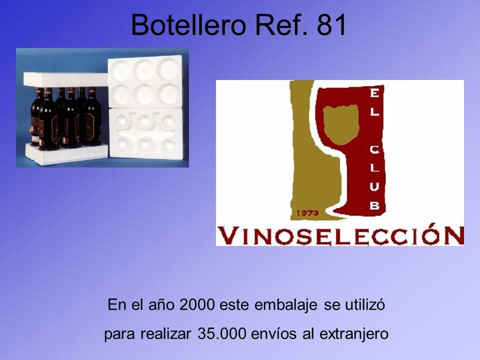 Botellero Ref. 81 En el año 2000 este embalaje se utilizó