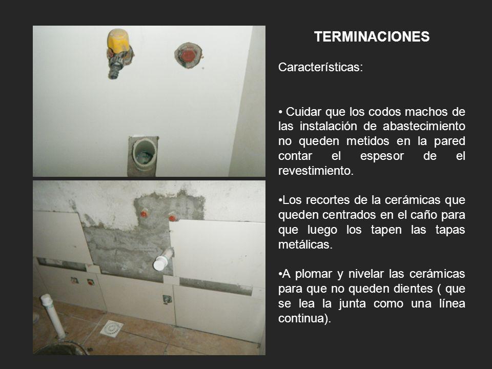 TERMINACIONES Características: