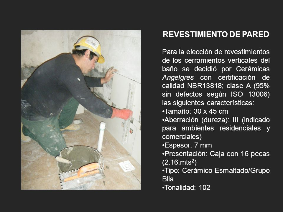 REVESTIMIENTO DE PARED