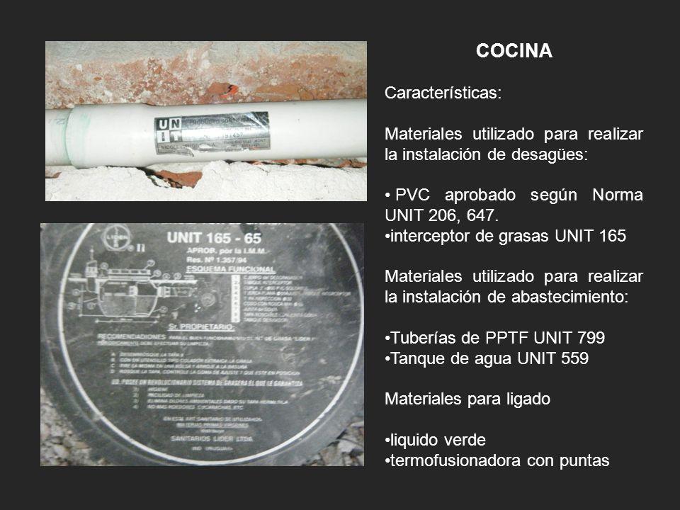 COCINA Características: