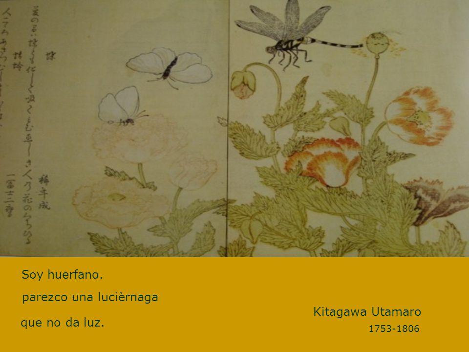 Soy huerfano. Kitagawa Utamaro parezco una lucièrnaga que no da luz.