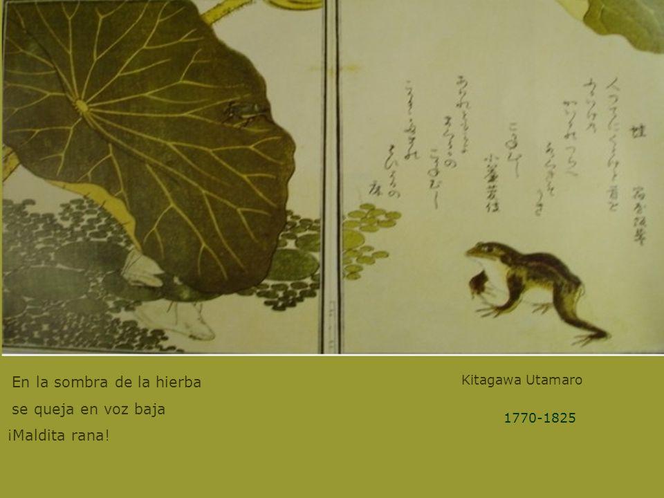 Kitagawa Utamaro En la sombra de la hierba se queja en voz baja