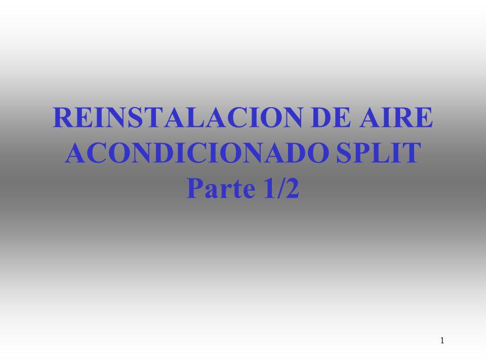 REINSTALACION DE AIRE ACONDICIONADO SPLIT Parte 1/2