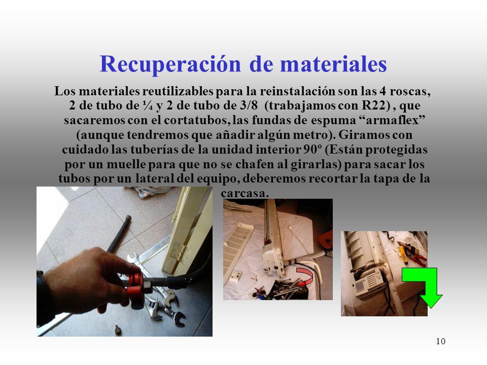 Recuperación de materiales