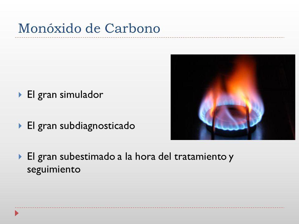 Monóxido de Carbono El gran simulador El gran subdiagnosticado