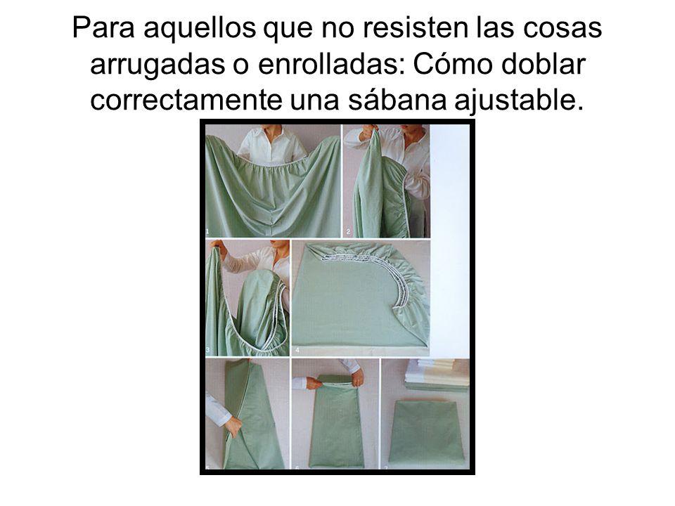 Para aquellos que no resisten las cosas arrugadas o enrolladas: Cómo doblar correctamente una sábana ajustable.