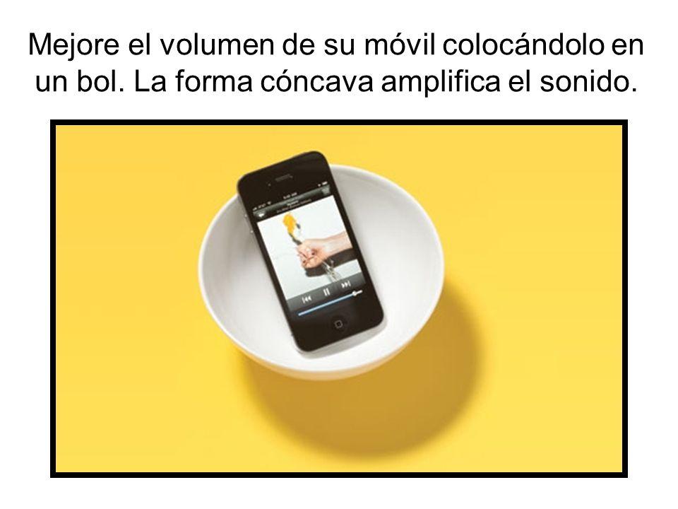 Mejore el volumen de su móvil colocándolo en un bol