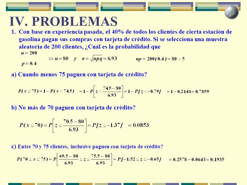 IV. PROBLEMAS