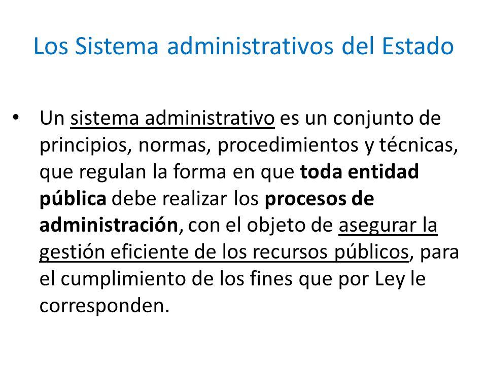 Los Sistema administrativos del Estado