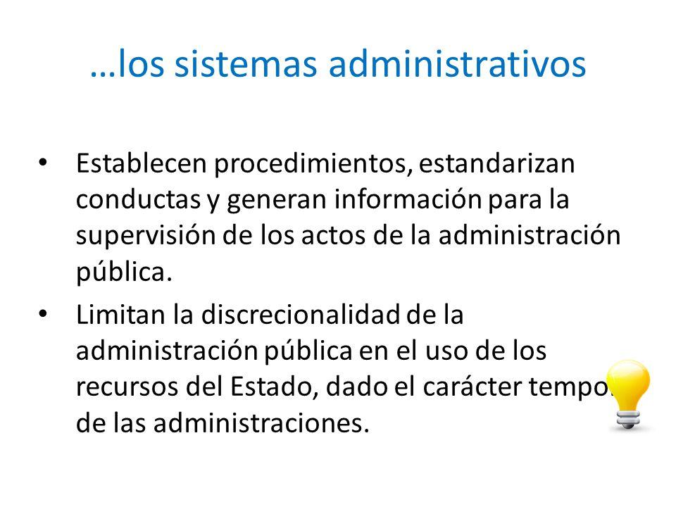 …los sistemas administrativos