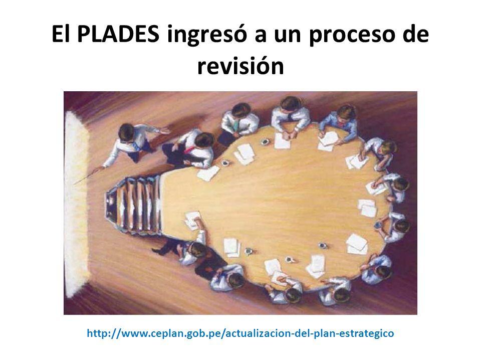 El PLADES ingresó a un proceso de revisión