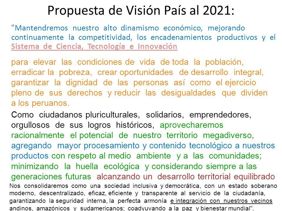 Propuesta de Visión País al 2021: