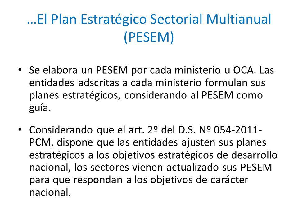 …El Plan Estratégico Sectorial Multianual (PESEM)