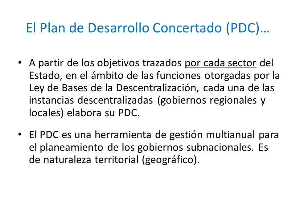 El Plan de Desarrollo Concertado (PDC)…