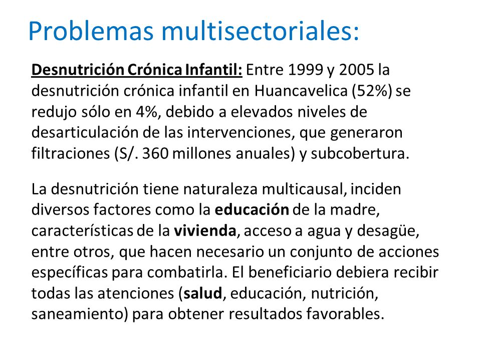 Problemas multisectoriales: