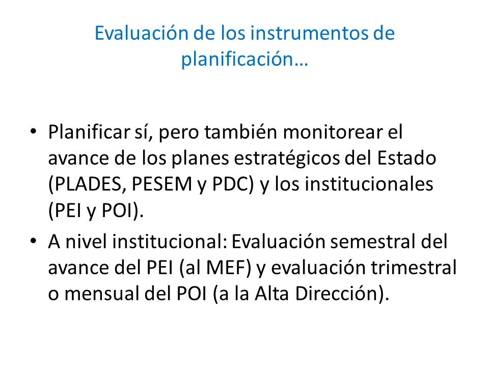 Evaluación de los instrumentos de planificación…