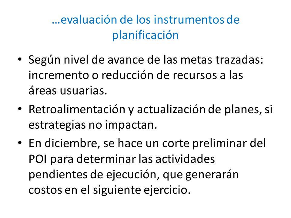 …evaluación de los instrumentos de planificación
