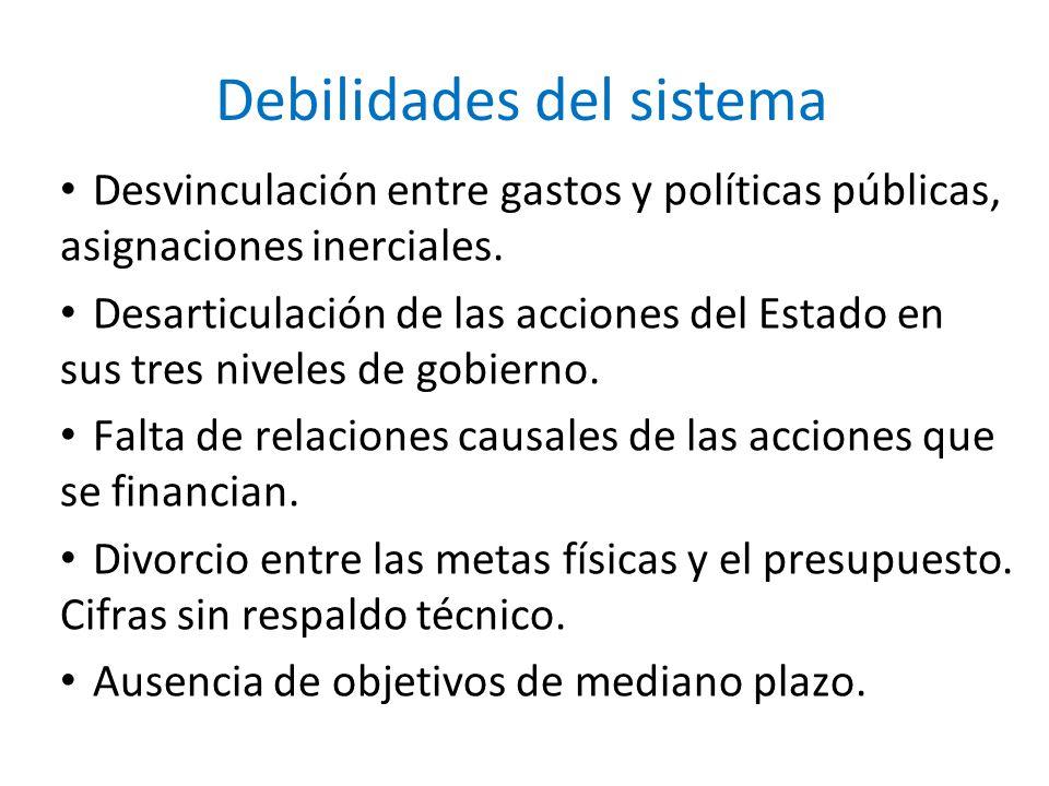 Debilidades del sistema