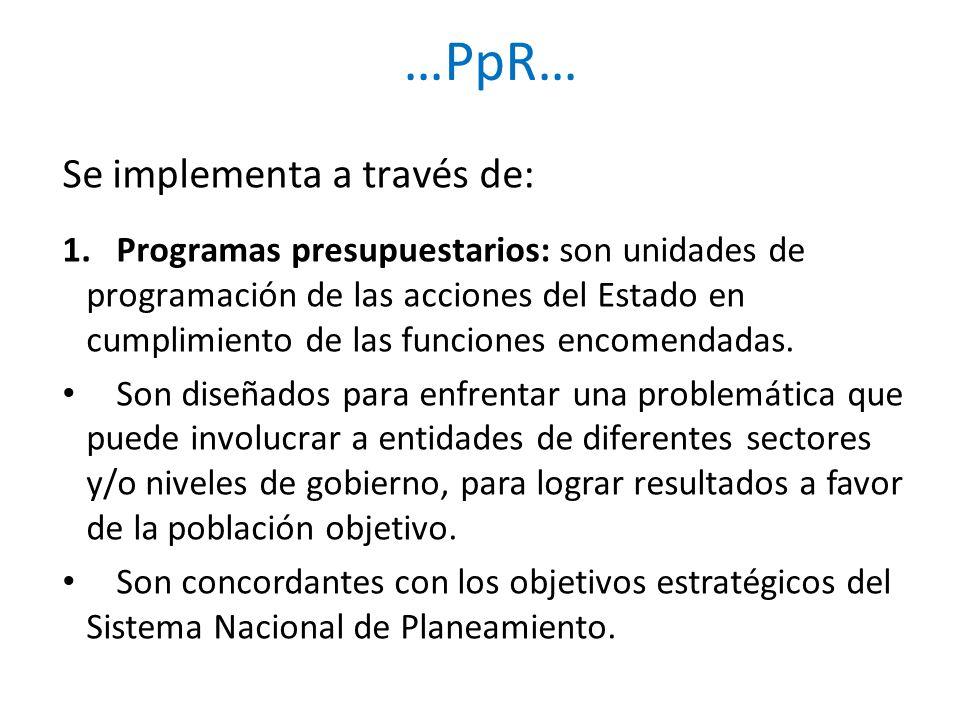 …PpR… Se implementa a través de: