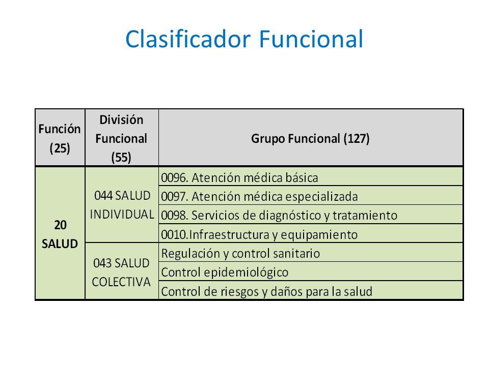 Clasificador Funcional
