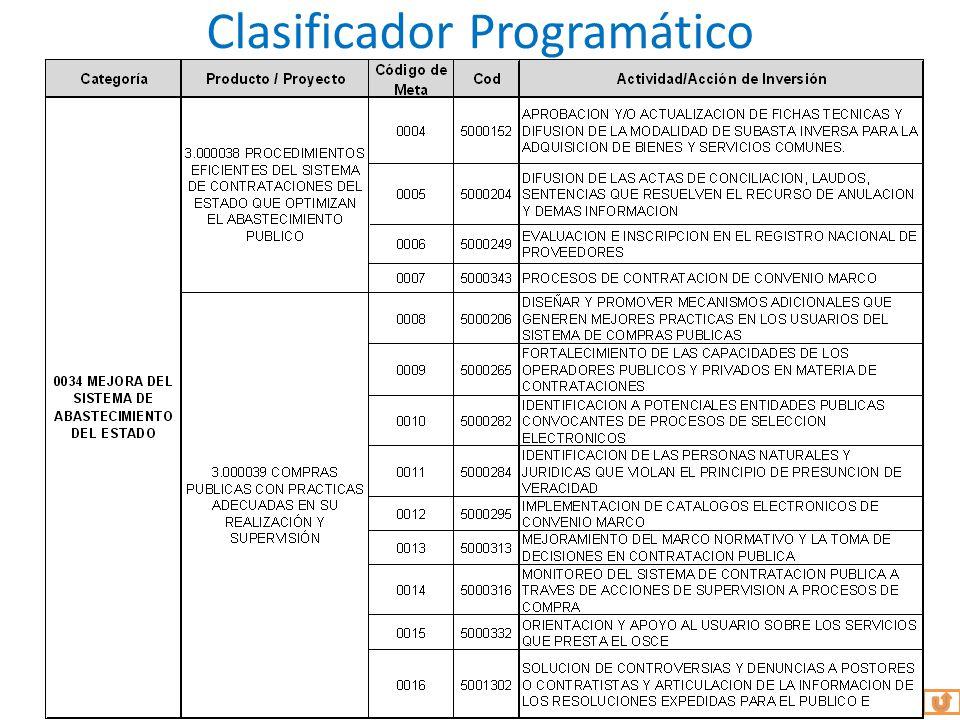 Clasificador Programático