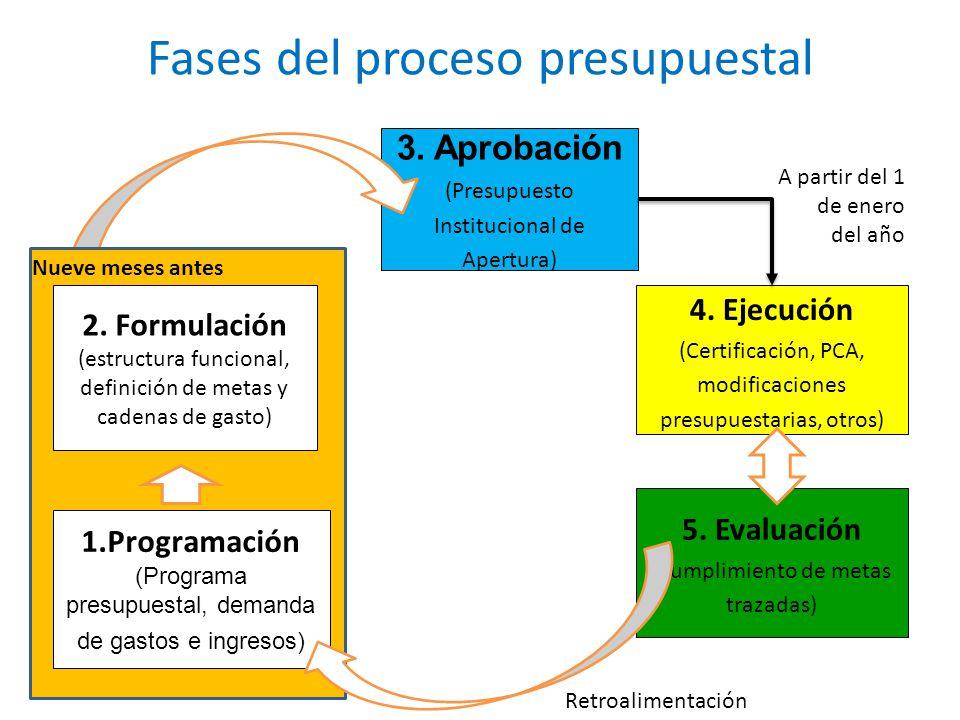 Fases del proceso presupuestal