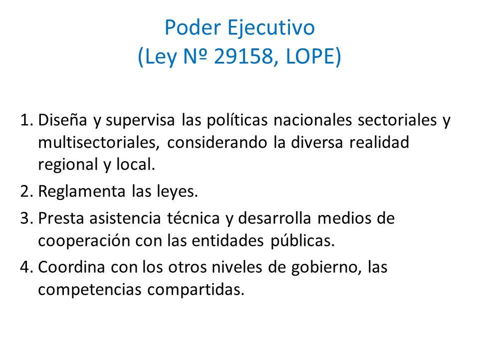 Poder Ejecutivo (Ley Nº 29158, LOPE)