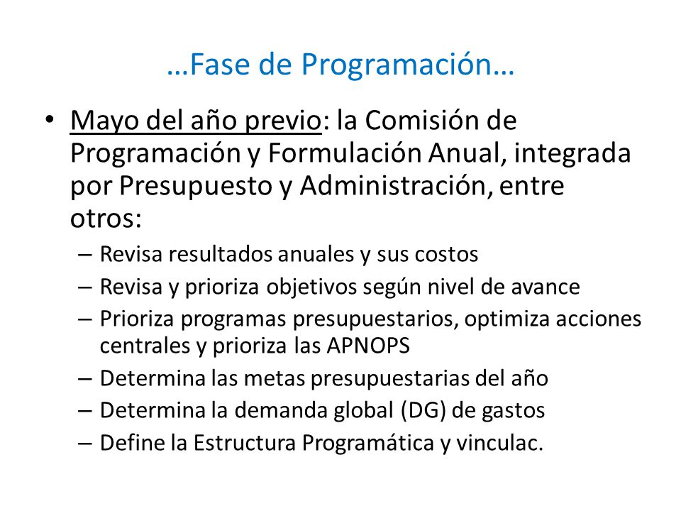 …Fase de Programación…