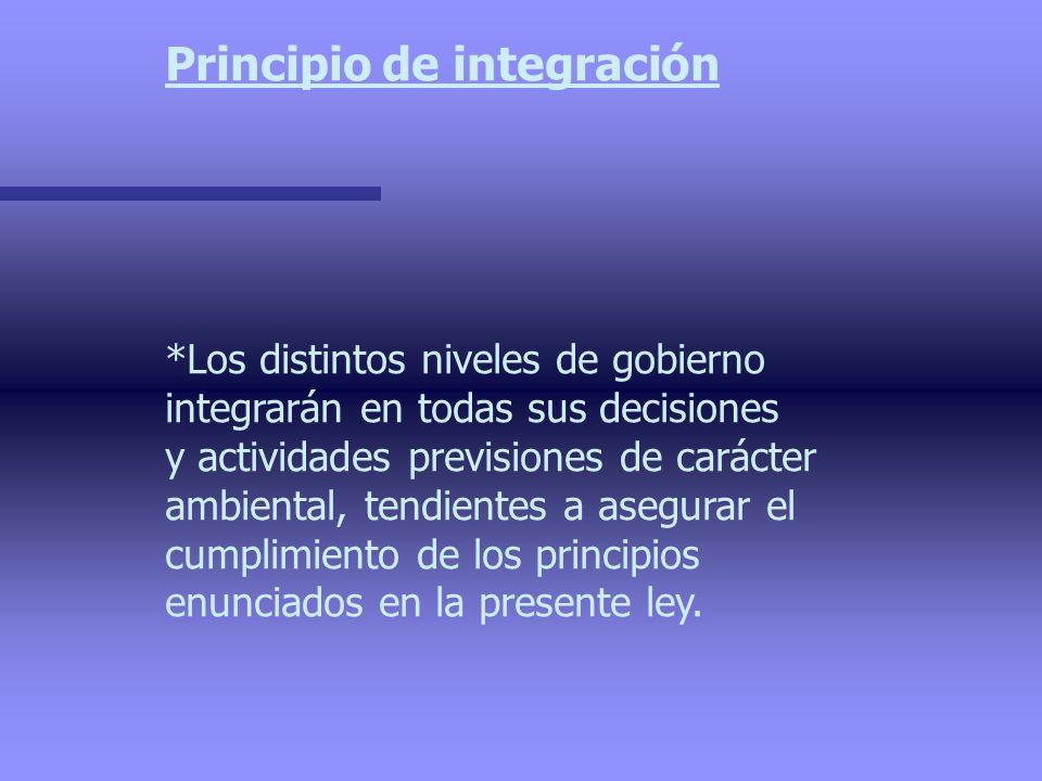 Principio de integración