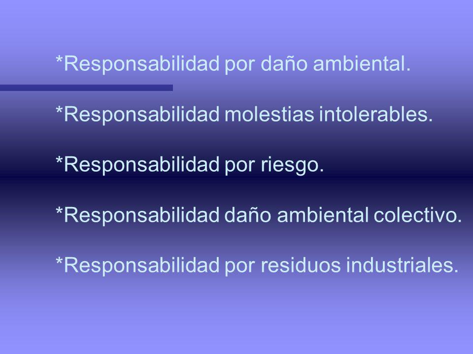 *Responsabilidad por daño ambiental.