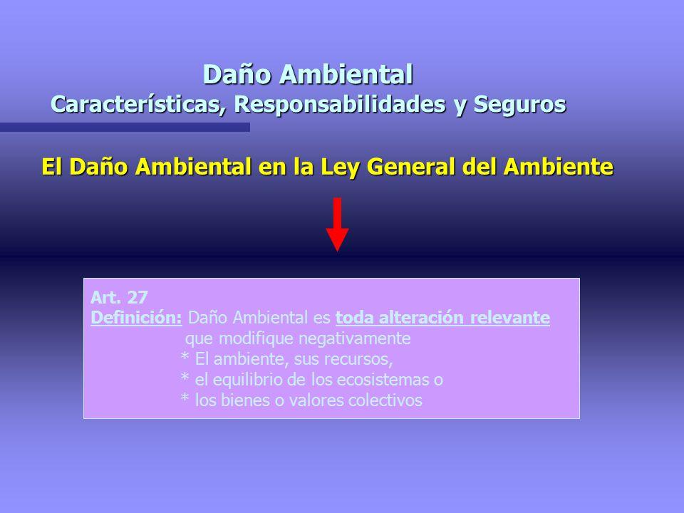 Daño Ambiental Características, Responsabilidades y Seguros