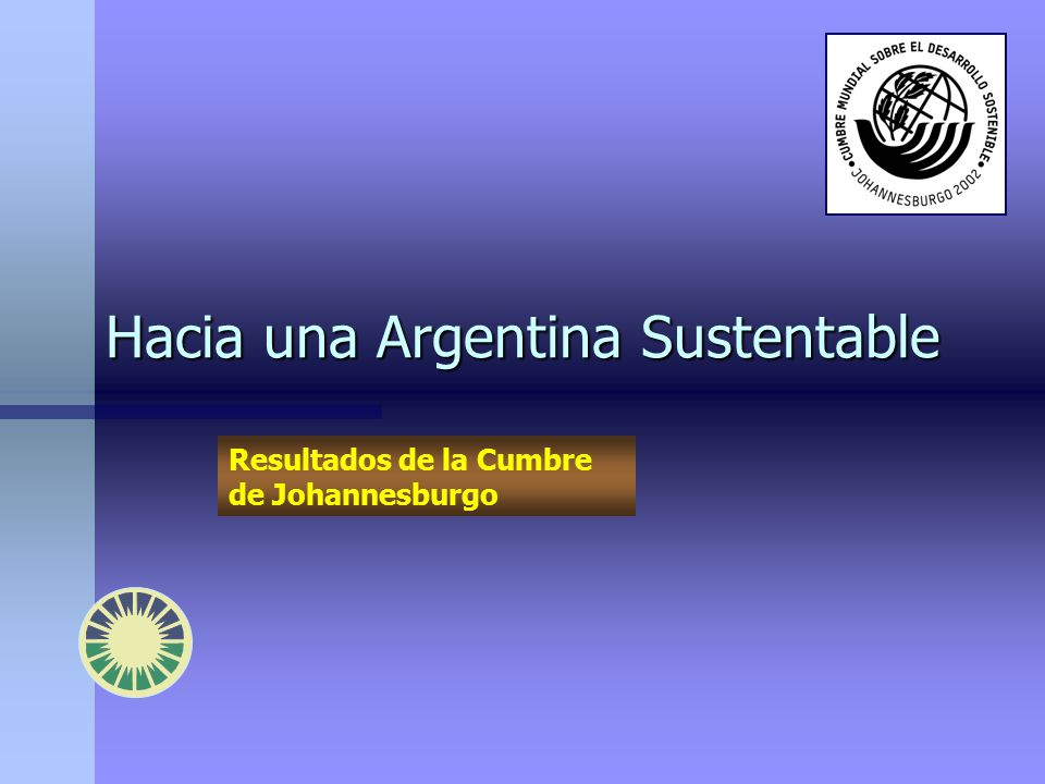 Hacia una Argentina Sustentable