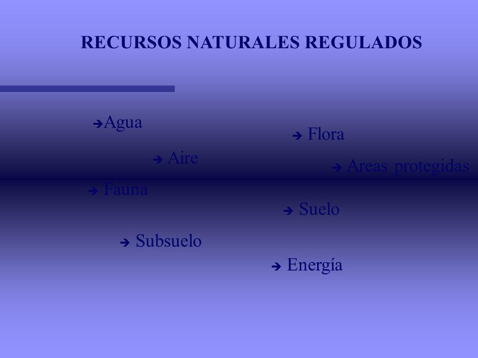 RECURSOS NATURALES REGULADOS