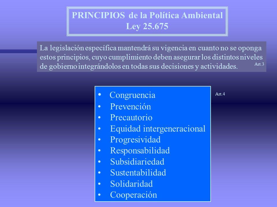 PRINCIPIOS de la Política Ambiental