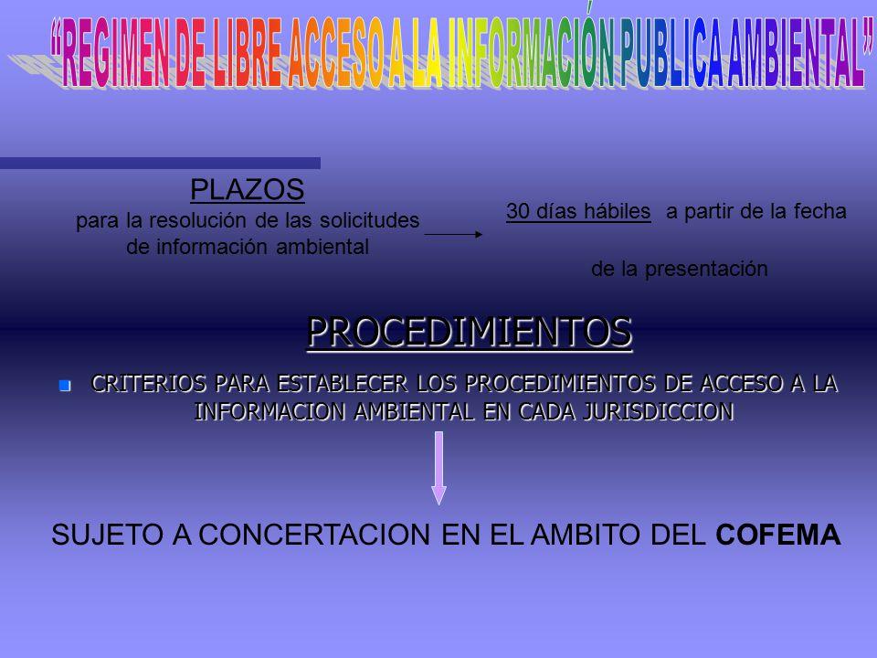 REGIMEN DE LIBRE ACCESO A LA INFORMACIÓN PUBLICA AMBIENTAL