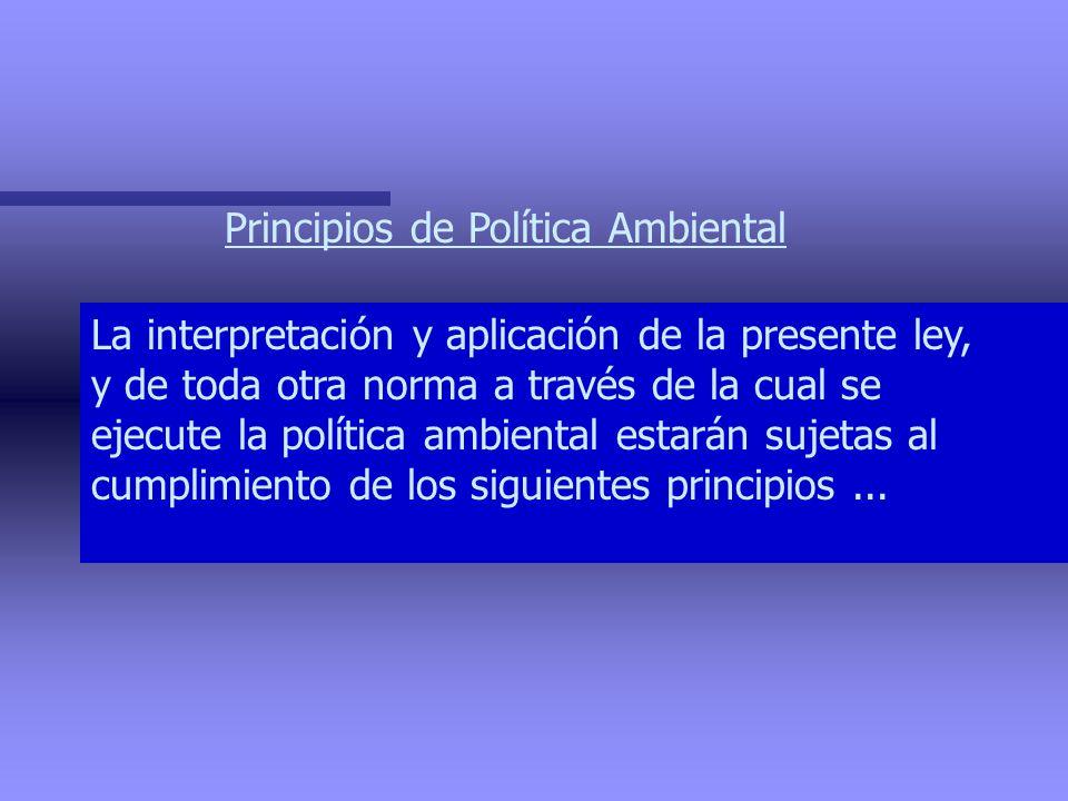 Principios de Política Ambiental