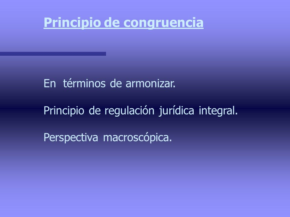 Principio de congruencia