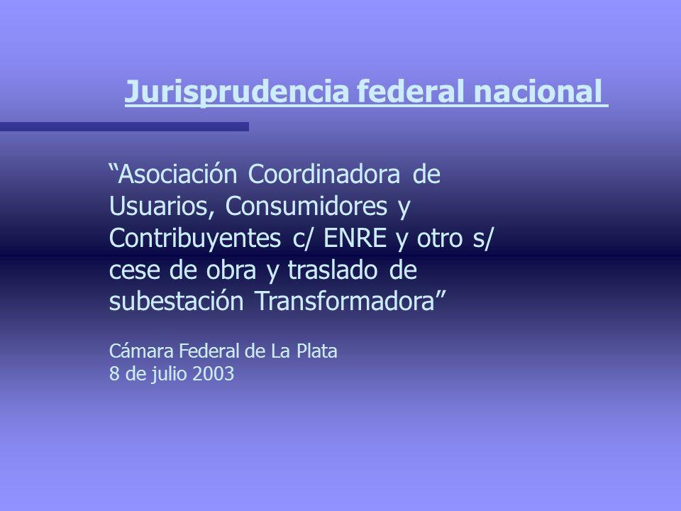 Jurisprudencia federal nacional