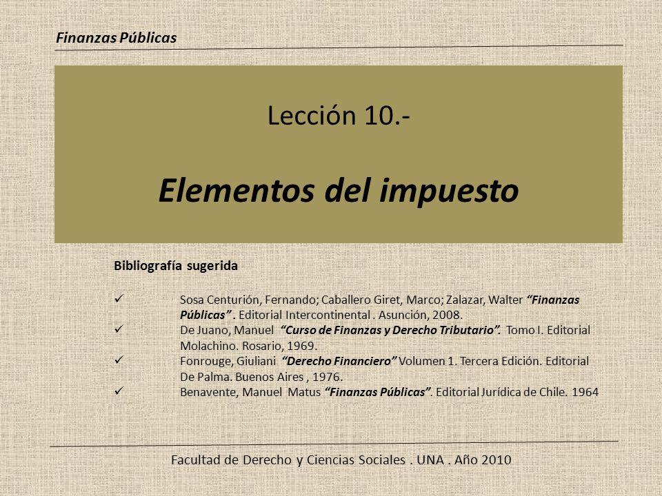 Lección 10.- Elementos del impuesto