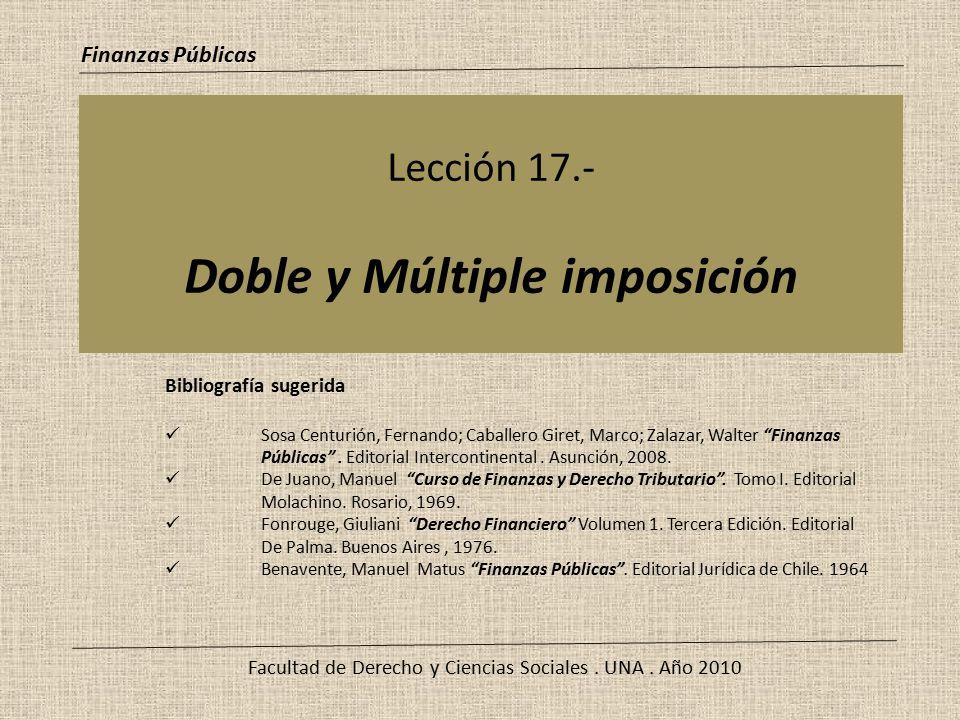 Lección 17.- Doble y Múltiple imposición