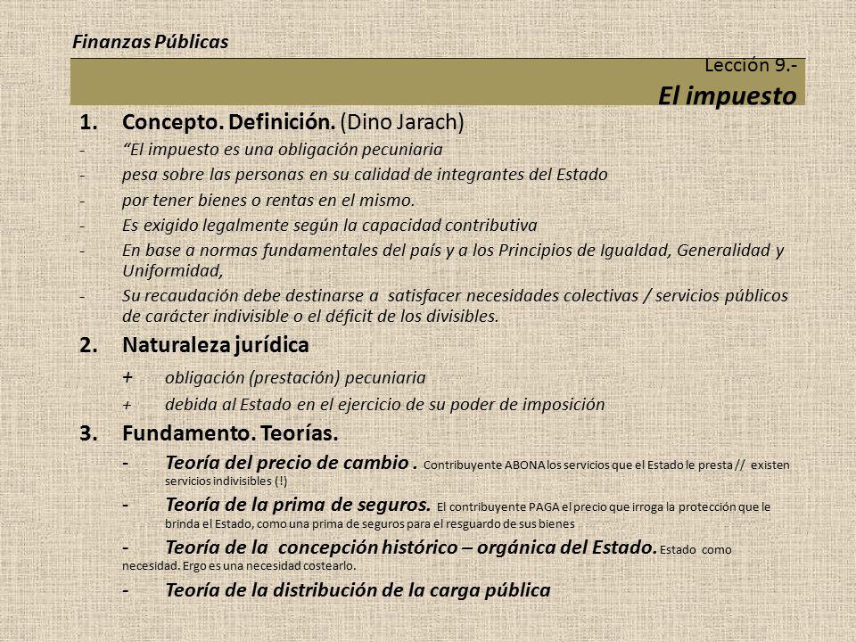 Concepto. Definición. (Dino Jarach)