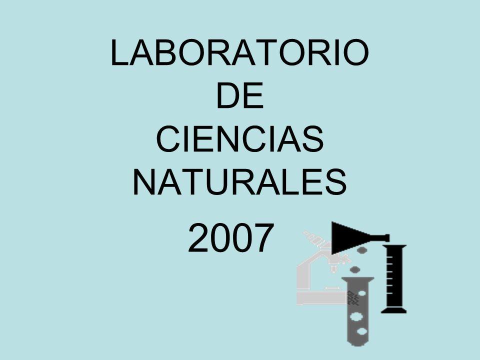 LABORATORIO DE CIENCIAS NATURALES